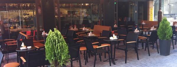 """Κατασκευή καφέ """"MIKEL"""" στην οδό Ταγματάρχου Τζουλάκη, Ηράκλειο"""